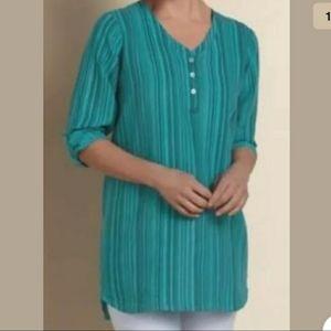 Soft Surroundings 100% linen tunic size Large
